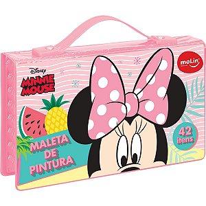 Maleta Para Pintura Licenciada Minnie Plastica 42 Itens Sort Molin