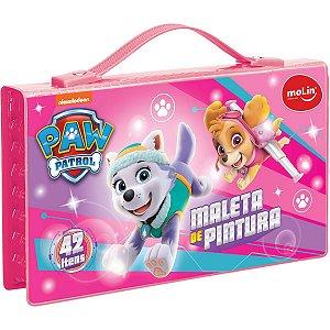 Maleta Para Pintura Licenciada Patrulha Canina Plast.42 Itens Molin