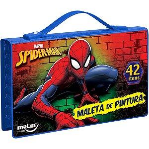 Maleta Para Pintura Licenciada Spider-Man Plast 42 Itens Sor Molin