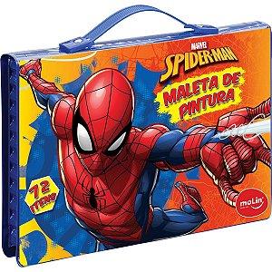 Maleta Para Pintura Licenciada Spider-Man Plast 72 Itens Sor Molin