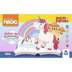 Maleta Para Pintura Unicornio Completa 42 Pecas Ciranda