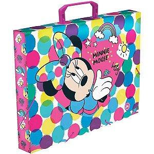 Maleta Plastica Com Alca Decor Minnie Mouse Oficio 40Mm Dac