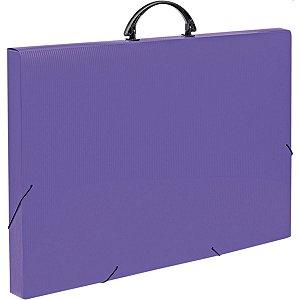 Maleta Plastica Com Alca Colors A3 Roxa 35X33X50,5Cm Polibras