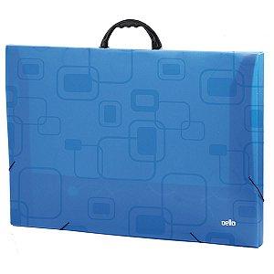 Maleta Plastica Com Alca Dellofine A3 Azul Dello