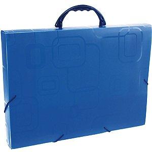 Maleta Plastica Com Alca Dellofine Oficio Azul Dello
