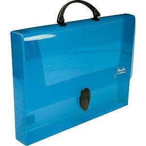 Maleta Plastica Com Alca New Line Plus 45Mm Azul Polibras
