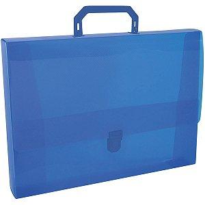 Maleta Plastica Com Alca Oficio Azul 43Mm Acp