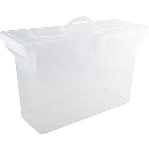 Maleta Plastica Com Alca Organizadora S/pasta Cristal Dello