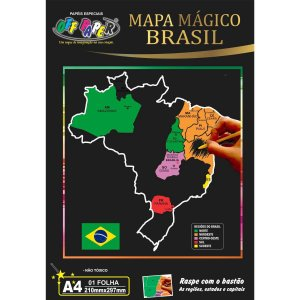 Mapa Mapa Do Brasil A4 C/bastao Off Paper