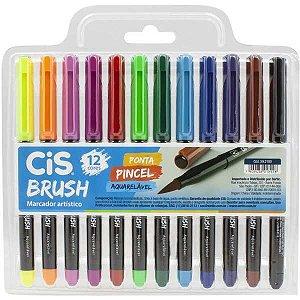 Marcador Artistico Cis Brush 12Cores Sertic