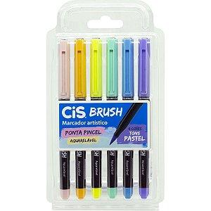Marcador Artistico Cis Brush 6 Tons Pastel Sertic