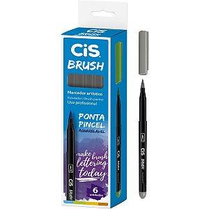 Marcador Artistico Cis Brush N.02 Cinza Escuro Sertic