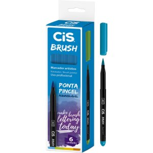 Marcador Artistico Cis Brush N.06 Azul Claro Sertic