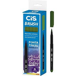 Marcador Artistico Cis Brush N.08 Verde Oliva Sertic