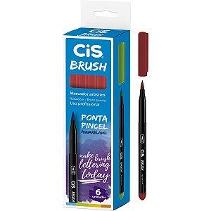 Marcador Artistico Cis Brush N.15 Vermelho Escuro Sertic