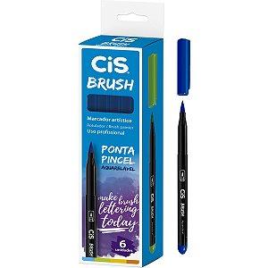 Marcador Artistico Cis Brush N.20 Azul Escuro Sertic