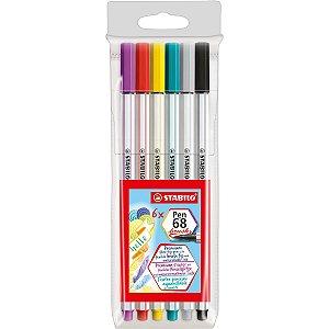 Marcador Artistico Stabilo Pen Brush 568/06 6Core Sertic