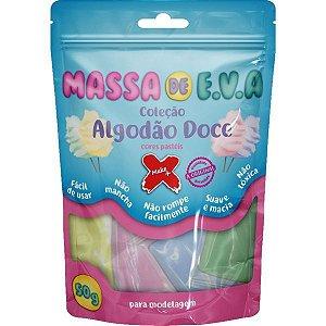 Massa De Eva 5 Cores Pastel 50G. Algodao Do Make+
