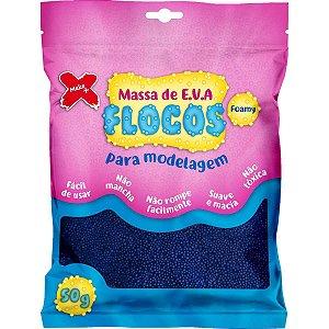 Massa De Eva Flocada Azul Escuro 50G Make+