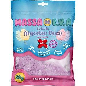 Massa De Eva Lilas Pastel 50G. Algodao Doce Make+