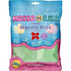 Massa De Eva Verde Pastel 50G. Algodao Doce Make+
