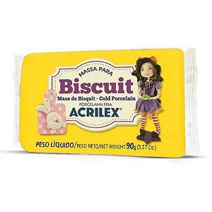 Massa De Porcelana Fria Biscuit 90G Amarelo Ouro Acrilex