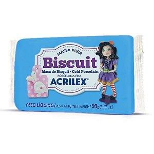 Massa De Porcelana Fria Biscuit 90G Azul Celeste Acrilex