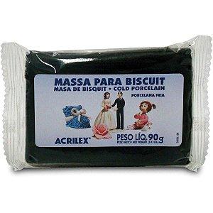 Massa De Porcelana Fria Biscuit 90G Preto Acrilex