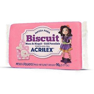Massa De Porcelana Fria Biscuit 90G Rosa Acrilex