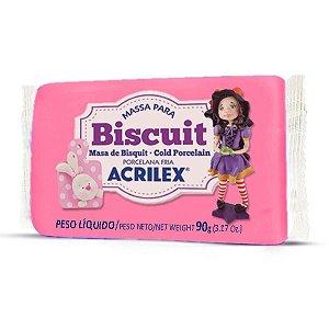 Massa De Porcelana Fria Biscuit 90G Rosa Escuro Acrilex