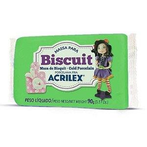 Massa De Porcelana Fria Biscuit 90G Verde Folha Acrilex