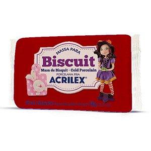 Massa De Porcelana Fria Biscuit 90G Vermelho Acrilex