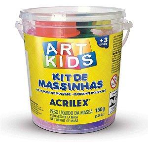 Massa Para Modelar Criativa Art Kids 1 150G.potes C/moldes Acrilex
