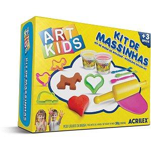 Massa Para Modelar Criativa Art Kids 3 300G.c/moldes Acrilex