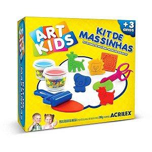 Massa Para Modelar Criativa Art Kids 7 150G C/7 Acessorios Acrilex