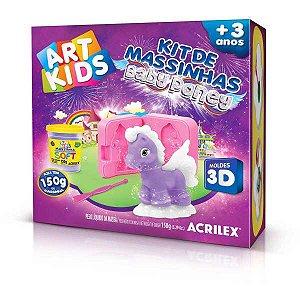 Massa Para Modelar Criativa Art Kids Baby Poney 2 150G Acrilex
