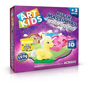 Massa Para Modelar Criativa Art Kids Baby Poney 3 150G Acrilex