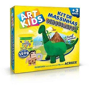 Massa Para Modelar Criativa Art Kids Dinossauro 1 Verde Acrilex