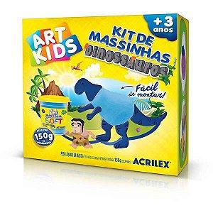 Massa Para Modelar Criativa Art Kids Dinossauro 2 Azul Acrilex