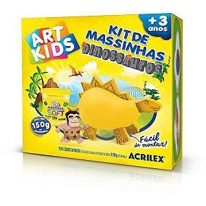 Massa Para Modelar Criativa Art Kids Dinossauro 3 Amarelo Acrilex