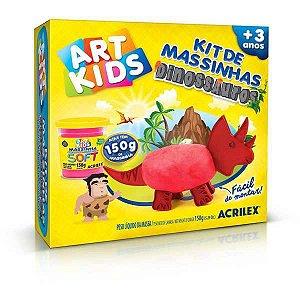 Massa Para Modelar Criativa Art Kids Dinossauro 3 Vermelho Acrilex