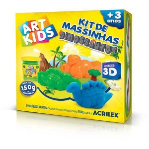 Massa Para Modelar Criativa Art Kids Dinossauro 3D 150G Acrilex