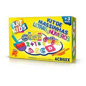Massa Para Modelar Criativa Art Kids Letras E Numeros 450G Acrilex