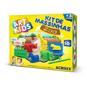 Massa Para Modelar Criativa Art Kids Zoo 3D Acrilex