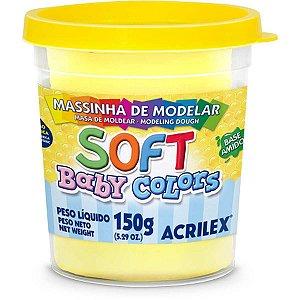 Massa Para Modelar Soft 150G.amarelo Bebe Bs Amid Acrilex