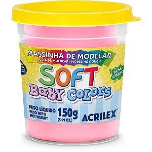 Massa Para Modelar Soft 150G.rosa Bebe Bs Amido Acrilex