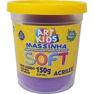 Massa Para Modelar Soft 150G.violeta Bs Amido Acrilex