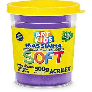 Massa Para Modelar Soft 500G.violeta Bs Amido Acrilex