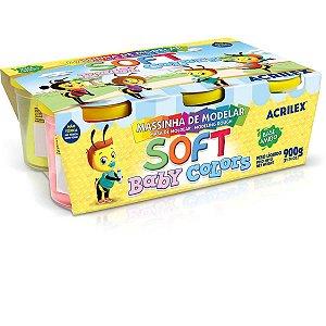 Massa Para Modelar Soft Baby Color 150G 6Cores Acrilex