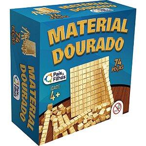 Material Dourado Educativo C/74 Pecas Madeira Pais E Filhos